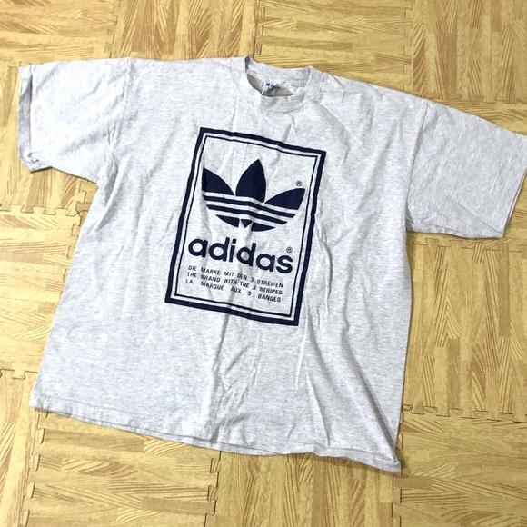 ADIDAS 1994 Shirt Vintage 90s TREFOIL 3 Stripes Backwards